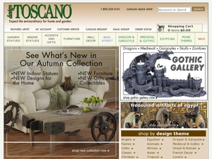 "Design Toscano lets you search its inventory using keywords. Ordinary is the last word you'd use to describe the fantastic products you find at Design Toscano. You can also eliminate the word ""expensive"" from your vocabulary when you add Design Toscano coupon codes to your next order."