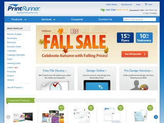 Customers turn to PrintRunner to create everything from yard signs to catalogs. The company is dedicated to providing quality service and offers custom-design quotes, online chat help, telephone customer service, as well as templates, design tools, and user guides to .