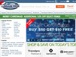 Save $$$ at Luggage Pros with coupons and deals like: Extra 15% Off Plus Free Shipping on Orders $99+ ~ Travelpro Platinum Elite Spinner Luggage Seeing Price Drops 29